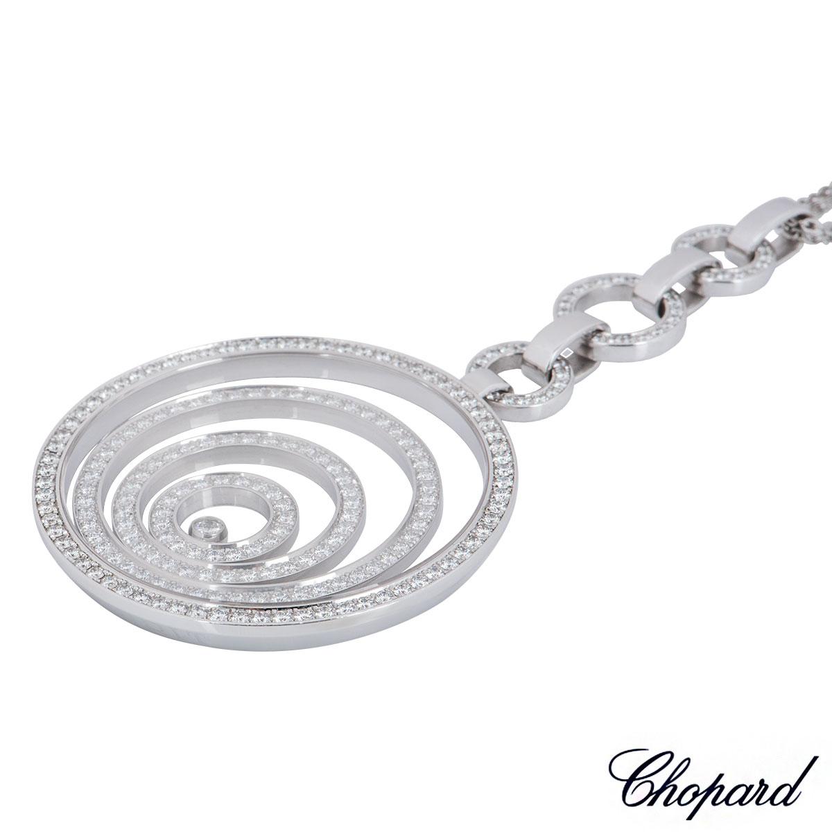 Chopard White Gold Diamond Happy Spirit Necklace 796135-1001